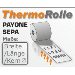 SEPA Lastschrift Thermo -Kassenrolle mit Payone-Druck.