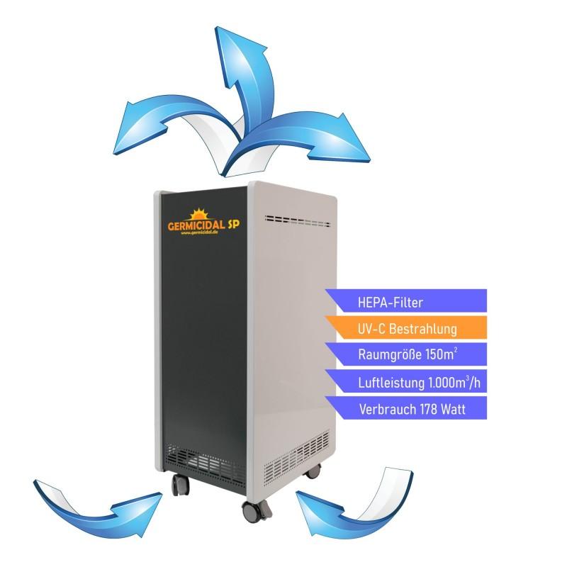 GERMICIDAL SP 100 Umluftentkeimer Luftfilter